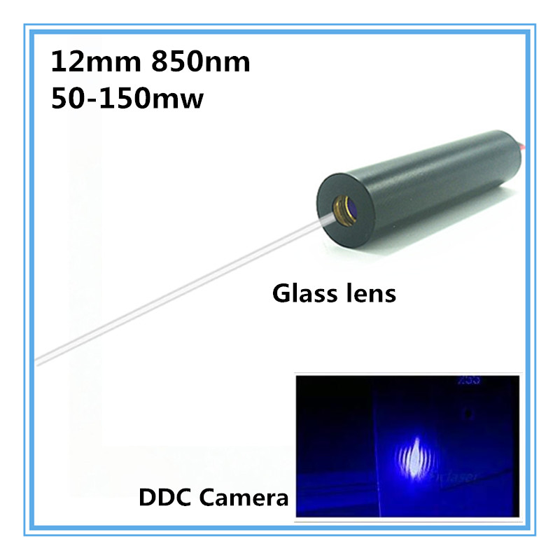 12mm 850nm 50mW 100mw 150mw IR Dot Laser Diode Module Industrial Grade APC driver 10 23mm 850nm 50mw ir infrared line diode laser module dc 3v 5v
