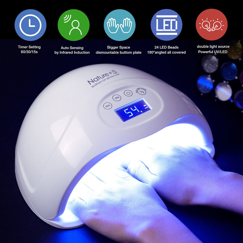 Modelones Nail Dryer 48W LED UV Lamp Fingernail Gel Curing Manicure Nail Art Salon Tool For Nail Gel Nail Machine Tools