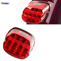 Motorcycle Accessories LED Brake Tail Light Harley Sportster 883 1200 XL Electra Glide FLHT FLHTCI Parts Rear License Plate Lam