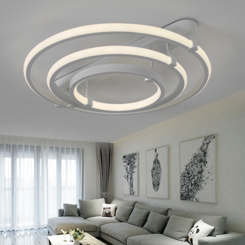 New Designer Modern Led Ceiling Lights For Living Room Bedroom White Color Home Square Led Ceiling Lamp lampara techo Fixtures japanese bedroom ceiling lights led modern tatami decor contemporary large square lamp lantern ceiling lights living room