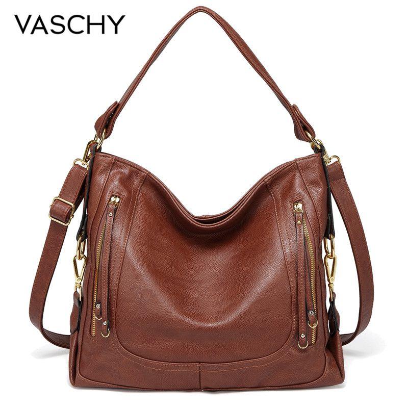 VASCHY sacs à main pour femmes mode sac à bandoulière femmes décontracté qualité bandoulière Messenger sac dames Chic doux Faux cuir