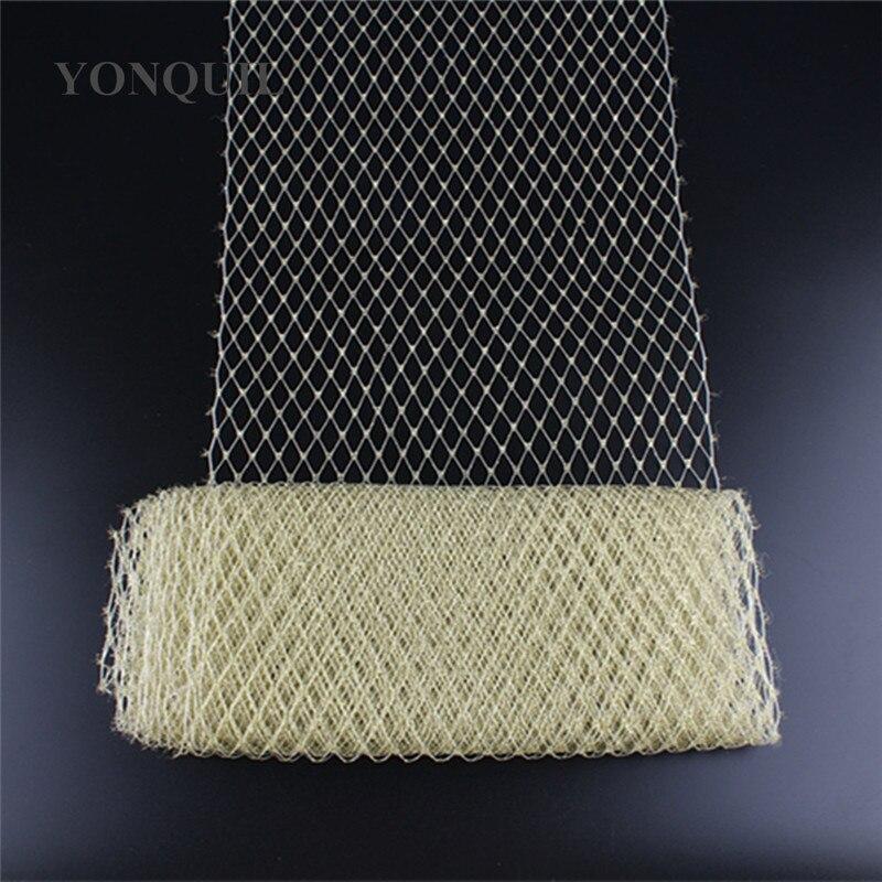 Image 5 - 23CM silver Birdcage veil netting Veiling make in Millinery Hat BlingBling Veil Fabric Women Fascinator hat material decorationveil nettingveil fabricveil birdcage -
