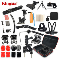 KingMa Gopro Accessories Set Tripod 360 Rotation Wrist Mount Helmet Arm For Xiaomi Yi Go Pro