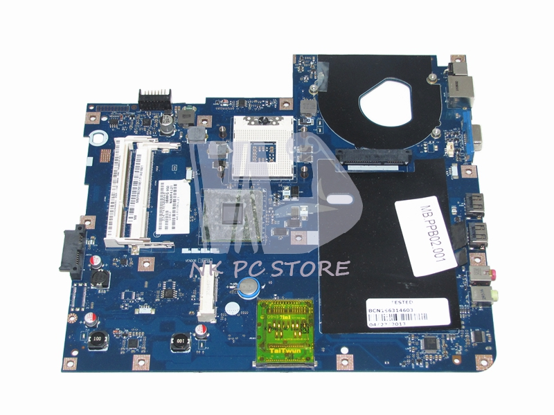 MBN7602001 MB.N7602.001 For Acer Emachines E527 E727 Laptop Motherboard GL40 DDR3 LA-4854P with Free CPU