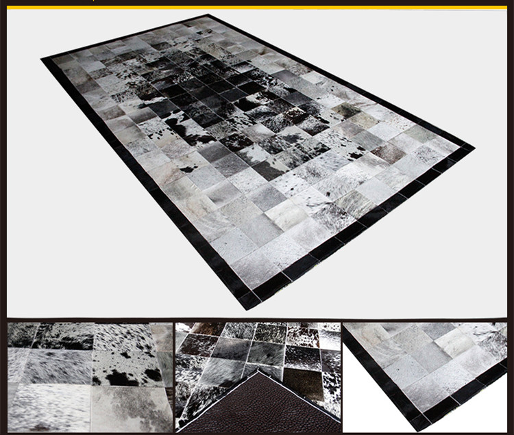 57862f768a1b0 Darmowa wysyłka 1 sztuka poprzez DHL 100% naturalne prawdziwa skóra bydlęca  dywan mat