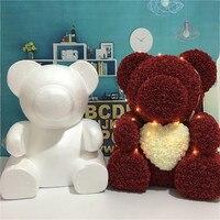 3 Размер пузырь Роза Медведь Diy Материал пена пластик медведь искусственный цветок эмбрион пена пластиковые цветы 32 см, см 50 см, 60 см медведь