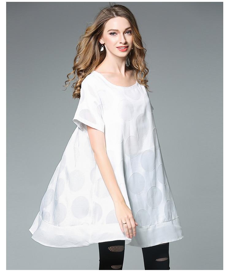 4xlwoman summer dress plus size european women white cute ...