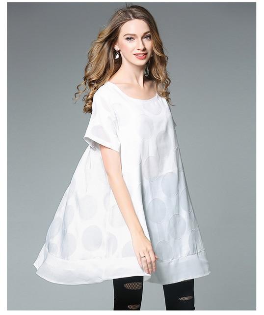 4xlwoman Summer Dress Plus Size European Women White Cute Brief