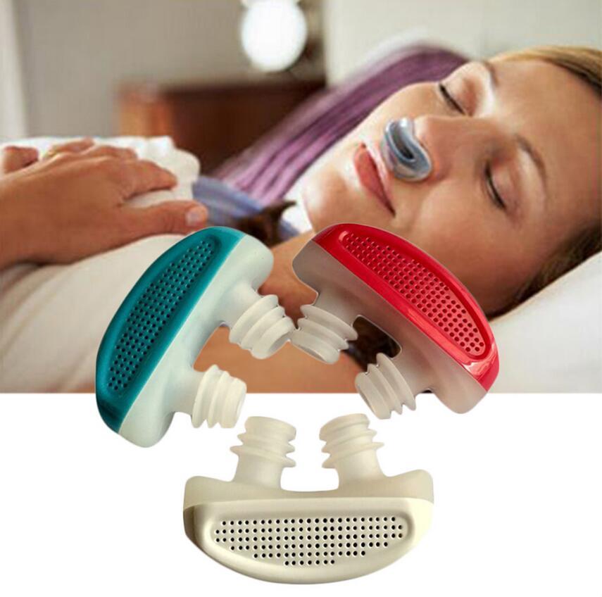 PM2.5 de CPAP ronquidos dispositivo Anti ronquido Apnea del sueño de ventilación La nariz aparatos congestión Nasal limpio purificador de aire