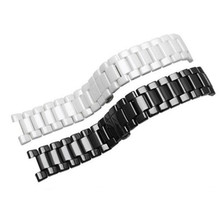 Watchbands 20*11mm 18*10mm Black White High Quality Ceramic Watch Band Strap Bracelets For Mens Women Lady Watch white ceramics band design mens leisure watch
