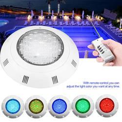 24 LED RGB Unterwasser Schwimmen Pool Licht Multi-Farbe 12V 24W RGB + Fernbedienung Außen Beleuchtung dichten Unterwasser Lampe