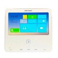Hik Многоязычная V1.5.0 DS KH6300 W 7 дюймовый сенсорный крытый монитор, P2P, IP звонок, видео домофон, проводной дверной звонок, встроенный Wi Fi
