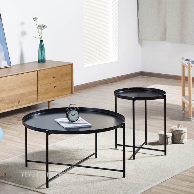 Modern nice design loft style fashion metal steel tray - Corner tables for living room online ...