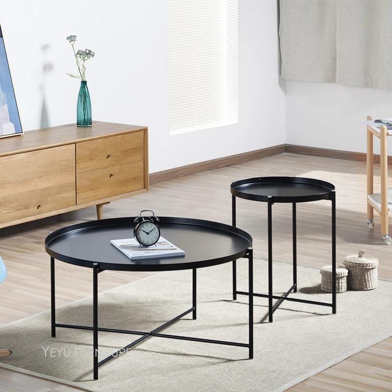 table de the en metal et acier style loft moderne et a la mode table d appoint populaire table basse d angle de salon