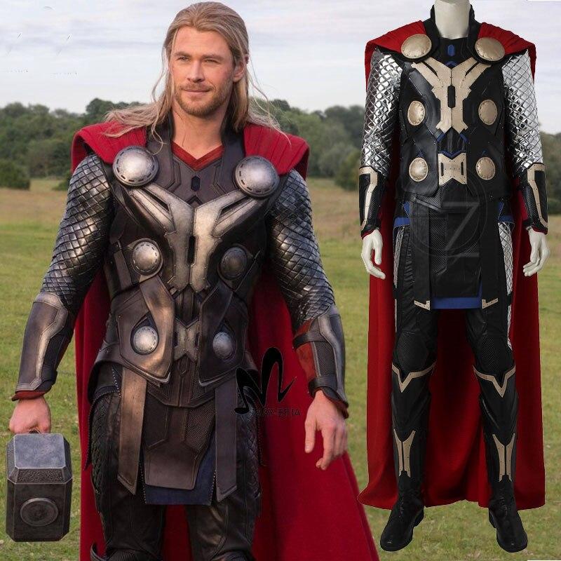 Avengers di Mezza Età di Ultron Thor cosplay costume costumi di Halloween per gli uomini adulti cosplay Superhero Thor costume martello stivali vestito