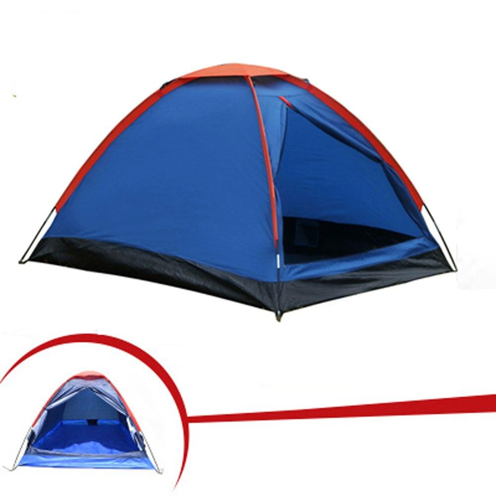 Палатку снаружи 2 человек для Пеший Туризм Поход альпинизмом Рыбалка три сезона палатка полиэстер PU покрытие туристическая палатка