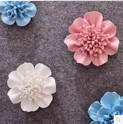Fiori Di Ceramica.Us 4 0 2018 Creativo Di Ceramica Rhododendron Fiori Medicina Fiori Di Crisantemo Decorazione Della Parete Artigianato In Adesivi Murali Da Casa E