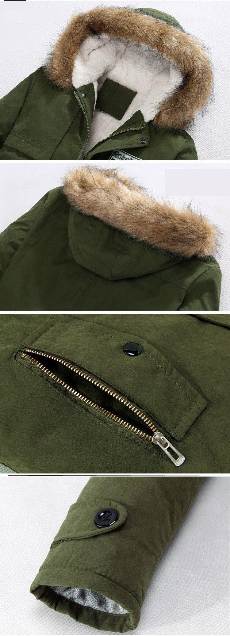 HTB1w08aeGmgSKJjSsphq6Ay1VXao jacket men 2019 new men's thick warm winter down coat long fur collar army green men parka Fleece cotton coat jacket parka men