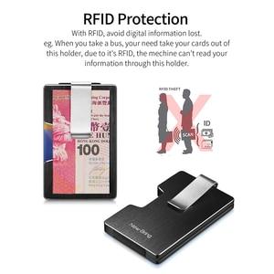 Image 4 - NewBring ผู้ถือบัตรเครดิตโลหะ RFID การปิดกั้นกระเป๋าสตางค์ Integration DESIGN หญิงและชายกระเป๋าเงิน EDC