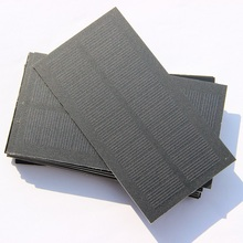 BUHESHUI Wholesale Solar Cell 0.8W 5.5V Solar Panel DIY Solar Charger PET Monocry Silicon Panel 118*63MM 12PCS/Lot Free Shipping
