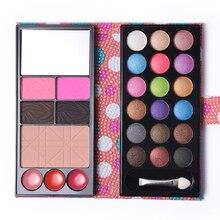 Women Beauty Cosmetic Kit Matte Shimmer Eyeshadow Palette +