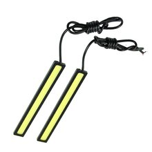 AUTO 2pcs LED COB Car Auto Driving Daytime Running Lamp Fog Light White Length 17cm