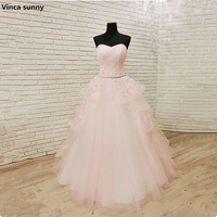 Vinca Sunny Cheap A Line Sweetheart Wedding Dress 2018 Pink Corset Boho Plus Size Wedding Dresses