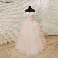 Vincaซันนี่ราคาถูกA-Lineรักชุดแต่งงาน2018สีชมพูรัดตัวBohoขนาดบวกชุดแต่งงานVestidos