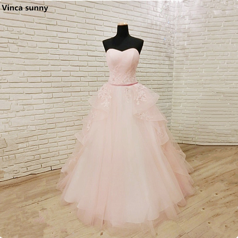 Vinca sunny Cheap A-line sweetheart Wedding Dress 2018 pink Corset Boho Plus Size Wedding Dresses Vestidos De Novia In Stock