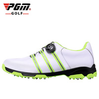 2016 yeni PGM Golf Ayakkabı Erkek Deri anti-patinaj nefes oluk patent tasarım sneakers freeshipping