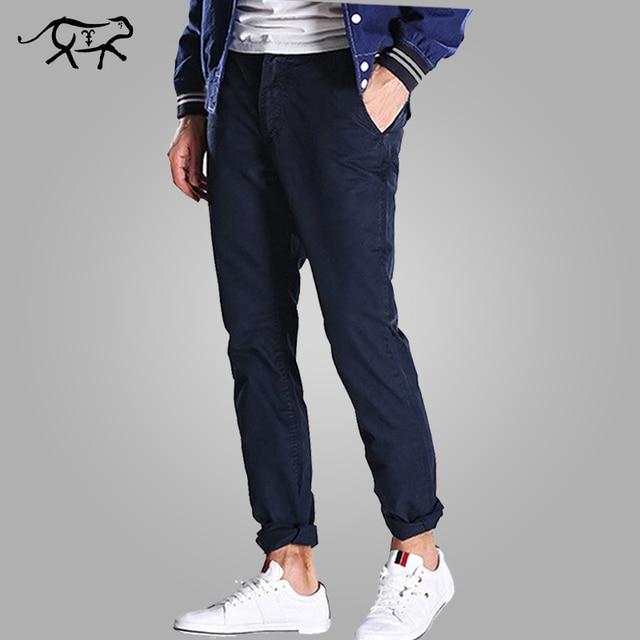 Новое Прибытие Весенние Брюки Моды для Мужчин Slim Fit мужская С Длинным брюки Случайные 100% Хлопок Брюки Для Мужчин Брюки-Карго Pantalones Hombr