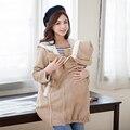 Мода Смазливая Материнства Пальто сгустите Потепление хлопок Материнства одежда для проведения младенцы беременных Женщин Зимние куртки 2 в 1