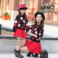 Autumn Winter Fashion Mother & Kids Long-sleeved Sweater Skirt Mommy Daughter Cothing Set Matching outfits Clothes Sets