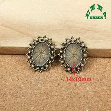 Wholesale New 20 Pieces Bronze Pendant Setting Cabochon Cameo Base Tray Bezel Blank Fit Round 14mm Cabochons DIY Jewelry Finding mibrow 10pcs lot stainless steel 8 10 12 14 16 18 20mm blank french lever earring tray cabochon setting cameo base jewelry
