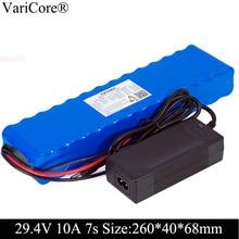 Varicore 24v 10ah 7s4p baterias 250w 29.4v 10000mah bateria 15a bms para a cadeira do motor conjunto de energia elétrica + 29.4v 2a carregador