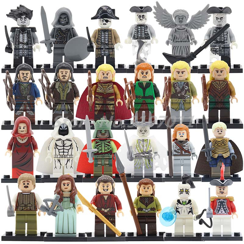 Single Sale Pirates of the Caribbean Series Building Blocks The Hobbit Figure Lord of the Rings White Tiger Imperial Navy Toys lord of the rings pg518 witch king of angmar the black gate diy figures building blocks bricks kids diy toys hobbies single sale