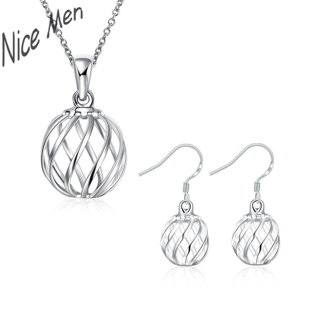 Unique Balls chorker necklace earrings set CS793 2015 bulk sale silver gifts for bridal birthday party jewelry