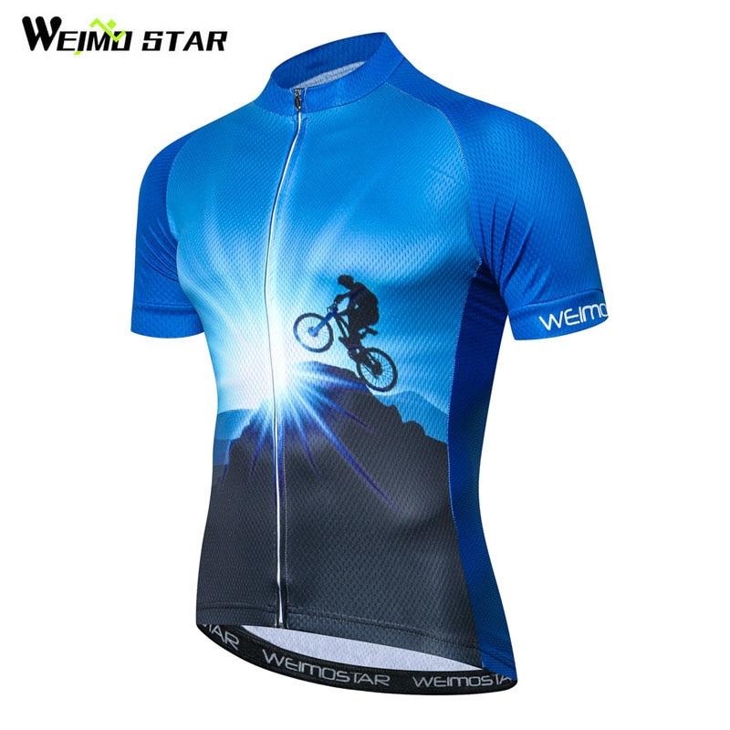 Weimostar 산악 자전거 사이클링 저지 셔츠 짧은 소매 자전거 의류 내리막 자전거 저지 옷 타이츠 Ropa Ciclismo