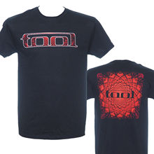 TOOL   RED PATTERN   Official Licensed T Shirt T Shirt Discount 100 % Cotton T Shirt For MenS Cool O Neck Tops