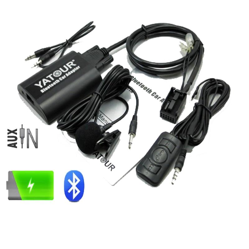 Yatour BTA autoradio Bluetooth kit mains libres pour RD4 Peugeot 207 307 308 407 citroën C2 C3 C4 AUX BT A2DP