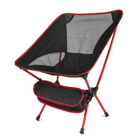 Red-Ultralight Folding Chair Superhard High Load Outdoor Portable Chair