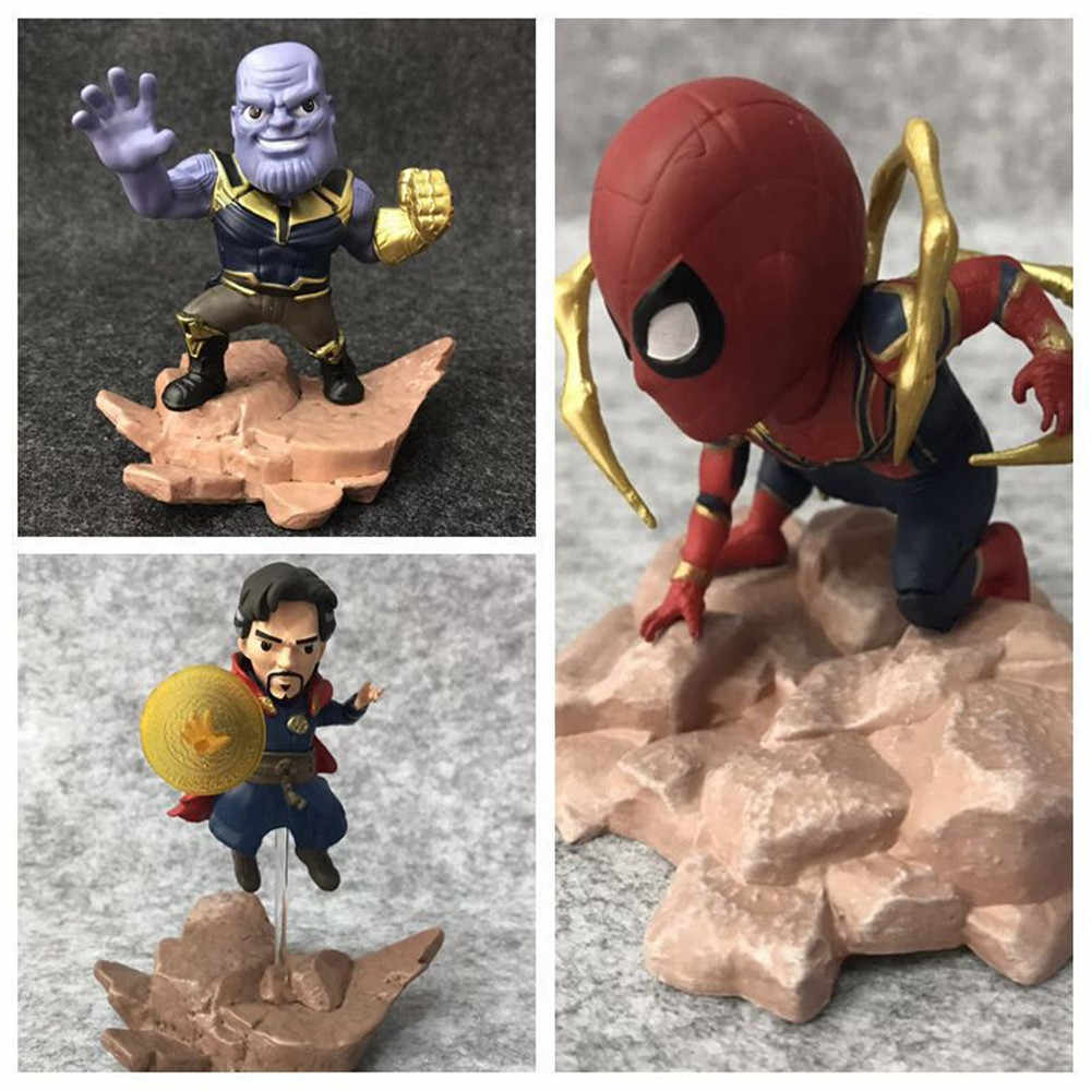 MARVEL Avenger Alliance 3 Infinite War Doctor แปลก Thanos Spider-Man IRONMAN Q Edition HAND-made Funkos POPs action FIGURE