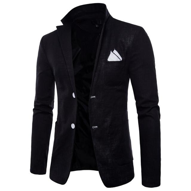 2018 New Brand Wholesale 9 Colors Men Blazers Slim Fit Single Button Male Blazers White Men Suit Casual Jackets M-4XL