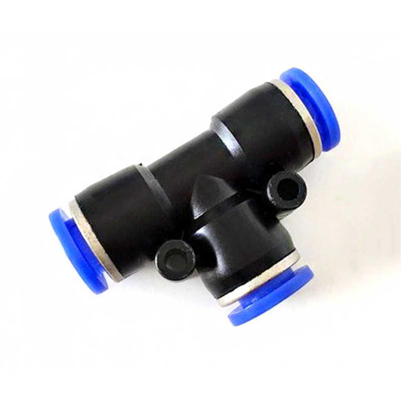 10 pces 6mm bloqueio deslizante rápido tees em linha reta cotovelo cruz conectores t pneumático plástico conector rápido acessórios de tubulação