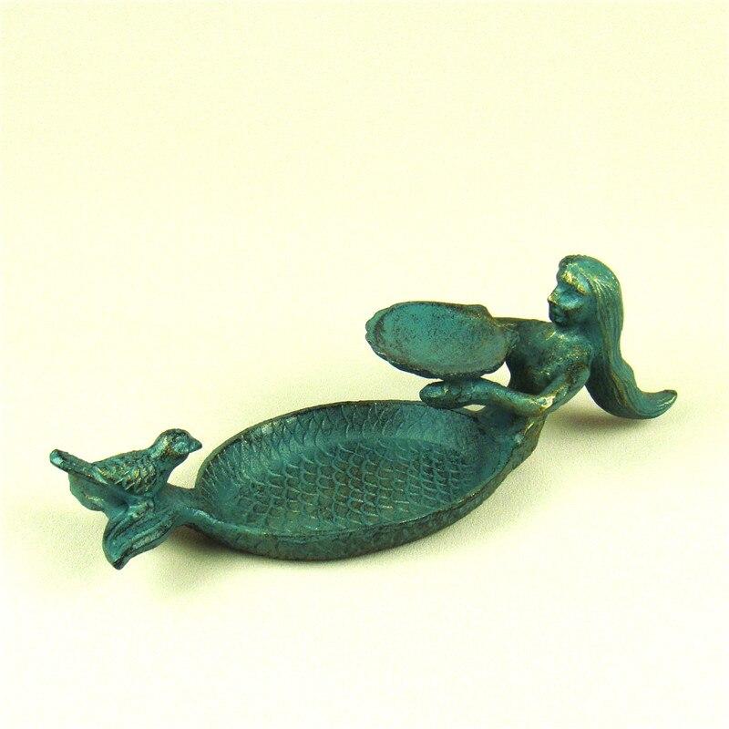 Creative fonte modèle sirène porte-savon Vintage métal salle de bain quotidien nécessité organisateur ornement artisanat cadeau accessoires