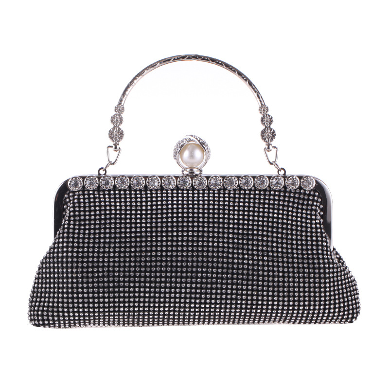 Elegant Women Party Wallets Wedding Bag Chic Evening Bag with Rhinestone Purse Ladies Full Diamond Day Clutch