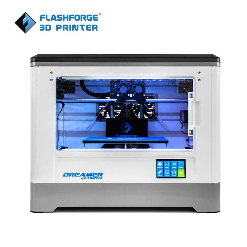 Flashforge 3D Imprimante 2018 FDM Rêveur Double impression couleur WIFI et écran tactile W/2 Bobine Entièrement Assemblé 3D Drucker