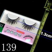 China Handmade False Eyelashes Thick eyelash extension Cotton Stalk 1set=1pair lashes недорого