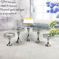 1pcs 5pcs mirror cupcake mirror cake stand set silver & gold color display sweet cake decoration