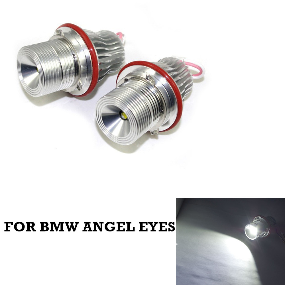 HOT SELL 2X 10W Angel Eyes LED MARKER FOR BMW E39 E64 E60 E66 E83 E87  silver new e39 rgbw ir remote control led marker angel eyes for bmw e87 e60 e61 e63 e64 e65 e66 e53 e83 x5 rgb color changing lighting